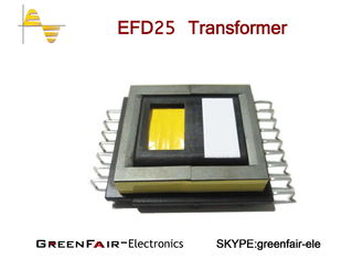 SMD EFD 25 High Frequency Power Transformer PC40 Core Grade Phenolic Bobbin Material